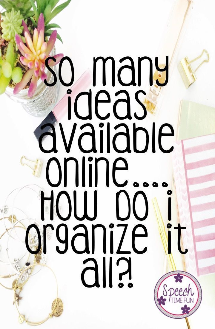 Learn 3 tips for organizing ideas you find online so you can ensure that you actually use them before you forget!  PLUS A FREEBIE!!