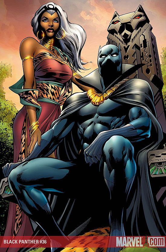 Storm and Black Panther.