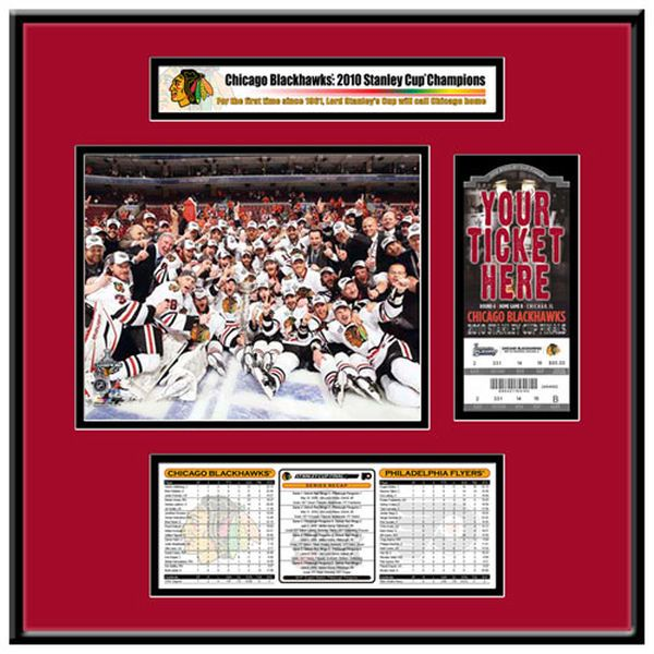 Chicago Blackhawks 2010 NHL Stanley Cup Champions That's My Ticket Frame Jr. - $119.99