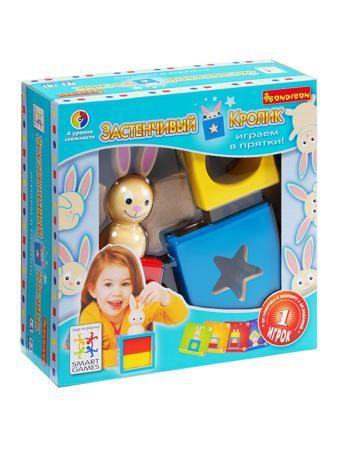 BONDIBON Логическая игра Bondibon Застенчивый Кролик, арт. SG 017 RU  — 1256 руб.  —  Чудесная развивающая игра для малышей от 2 до 5 лет. Красочная деревянная головоломка с симпатичным кроликом и интересными заданиями, подходящими для маленьких детей, поможет им развивать внимание, память, логическое мышление, цветовое восприятие в увлекательной игровой форме. Чтобы справиться с заданием, ребенку требуется расположить объемные детали головоломки таким образом, чтобы решить одну из…