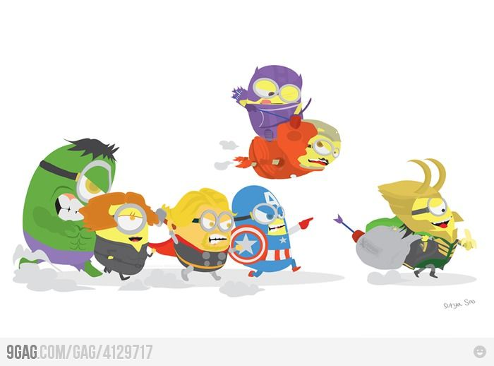 combination of possibly the 2 best things ever despicable me and avengers