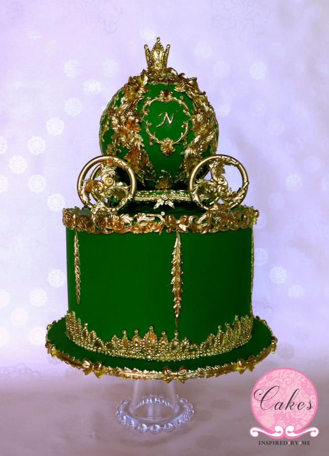 Baroque inspired Cinderella carriage cake by Aneesa