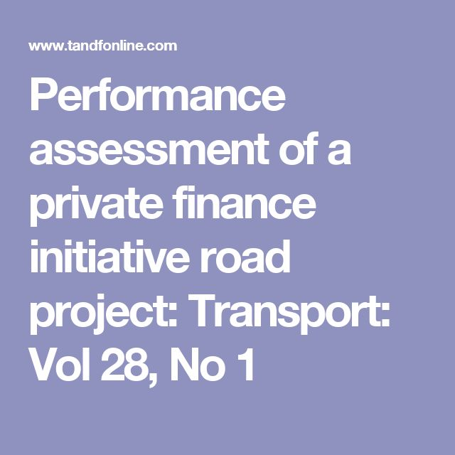 Performance assessment of a private finance initiative road project: Transport: Vol 28, No 1