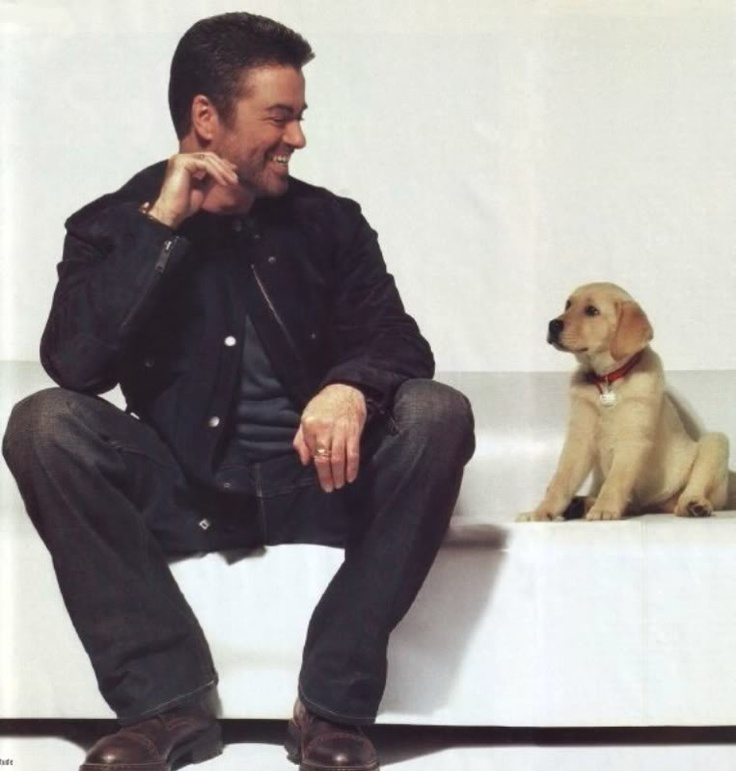 George Michael and a puppy = all I want for Christmas