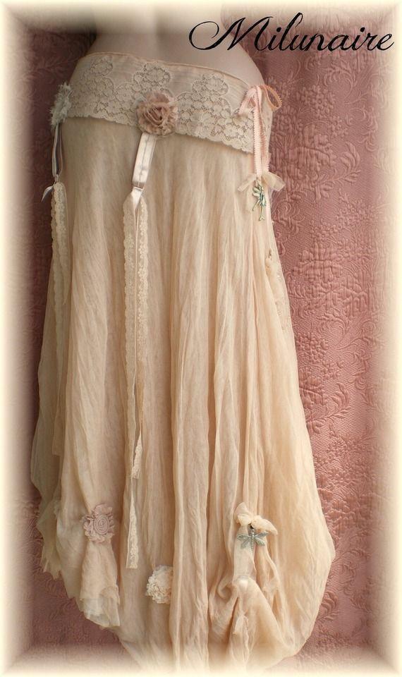 jupe longue tulle f erique saumon clair boh me pi ce unique fait main long fairy skirt. Black Bedroom Furniture Sets. Home Design Ideas