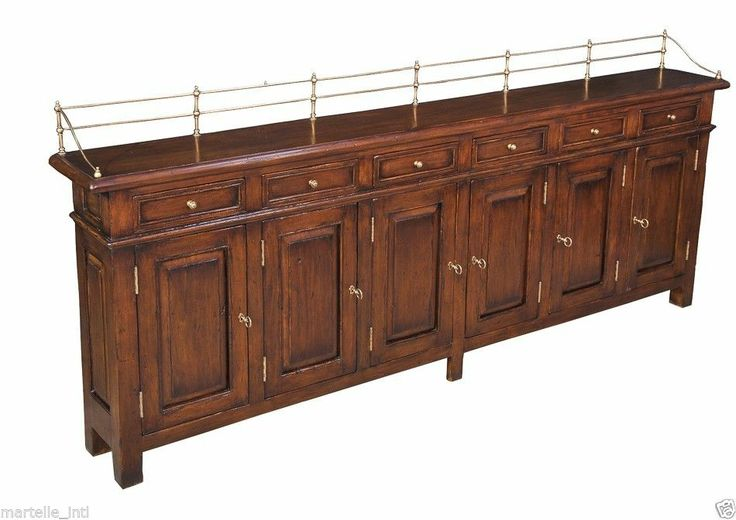 sideboard cabinet buffet long 8 feet hallway shallow country club antique style british style. Black Bedroom Furniture Sets. Home Design Ideas