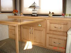 RV Cabinet Desk With Optional Table (700) | Camping & RV Dreaming ...