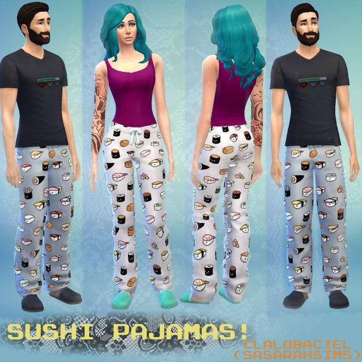 Mod The Sims - Sushi Pajama Pants!