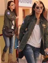 Resultado de imagen para famosas con chaquetas militares