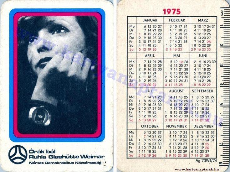 1975 - 1975_0827 - Régi magyar kártyanaptárak