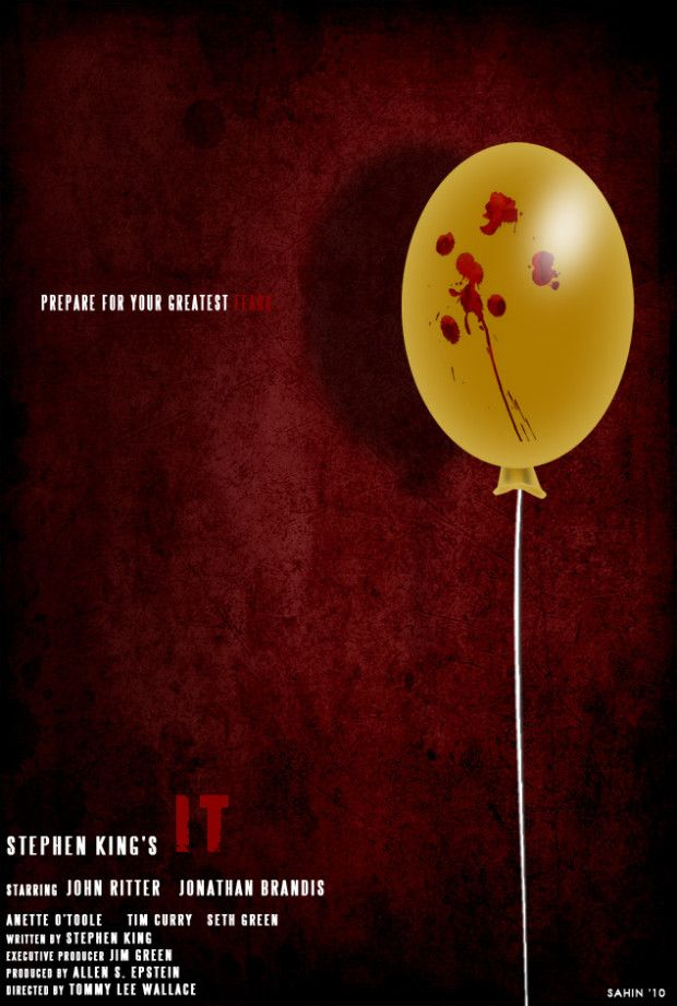 Stephen King's It ~ movie poster. Best book I ever read. LOVE THIS.