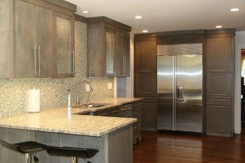 grey cabinets; houzz com  Design Kitchens No Upper Cabinets  Pint