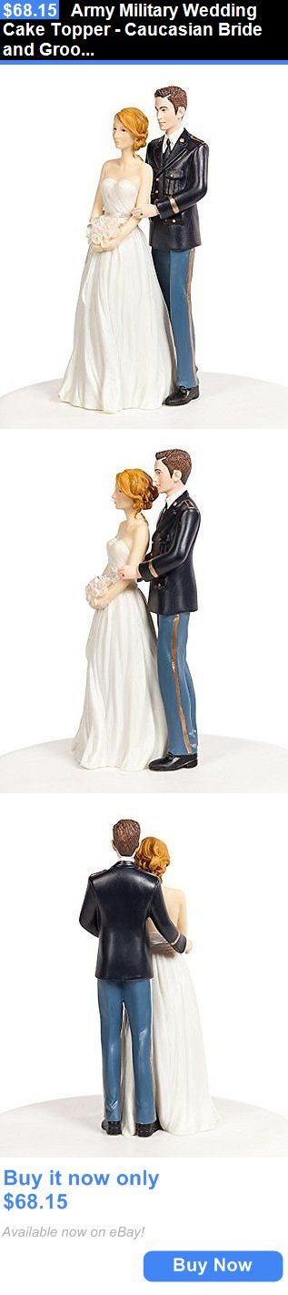 Wedding Cakes Toppers: Army Military Wedding Cake Topper - Caucasian Bride And Groom BUY IT NOW ONLY: $68.15