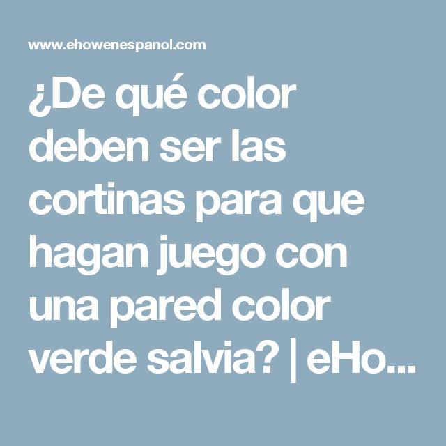 ¿De qué color deben ser las cortinas para que hagan juego con una pared color verde salvia?   eHow en Español