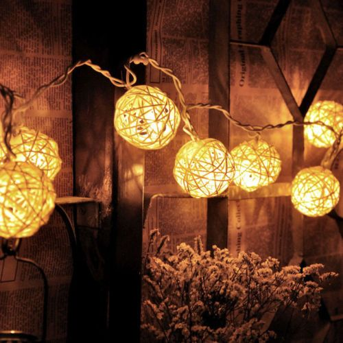 20led #rattan ball string #fairy light wedding garden party #christmas decor xy08,  View more on the LINK: http://www.zeppy.io/product/gb/2/391300916499/