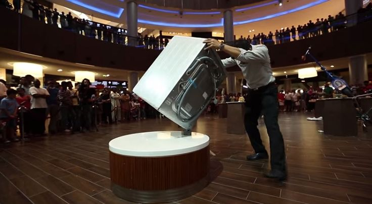 Rocky Byun balances rocks, scooters, and even a washing machine in this incredible video