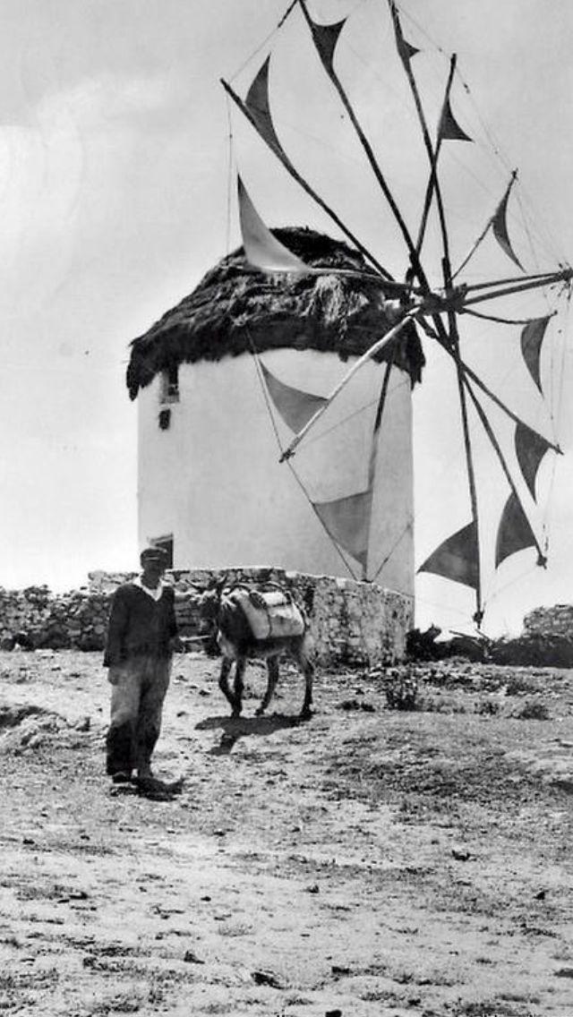 #Windimills of #Mykonos ,1958.