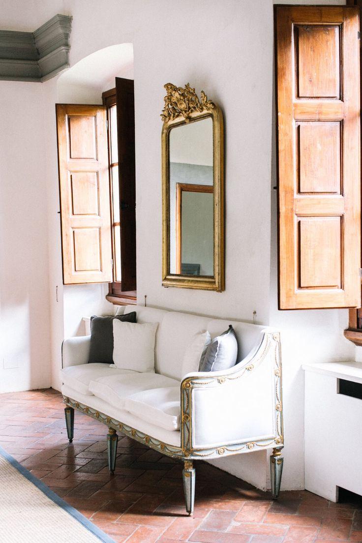 Hallway With Golden Mirror