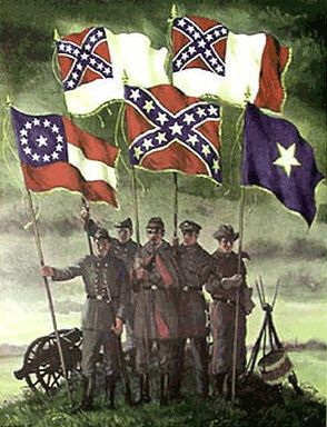 Flags of The Confederacy | Confederate Flag Bonnie Blue Stars and Bars Battle Flag and ...