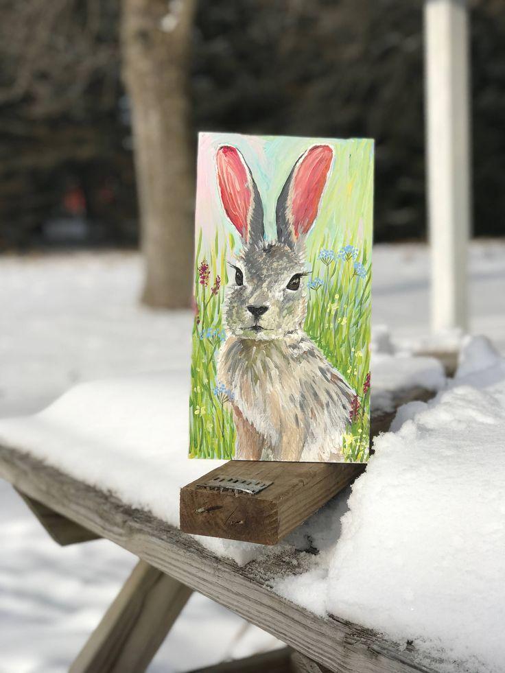 A personal favorite from my Etsy shop https://www.etsy.com/listing/569862936/rabbit-art-original-rabbit-artwork