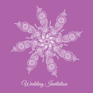 radiant orchid invitation by Ananya Cards