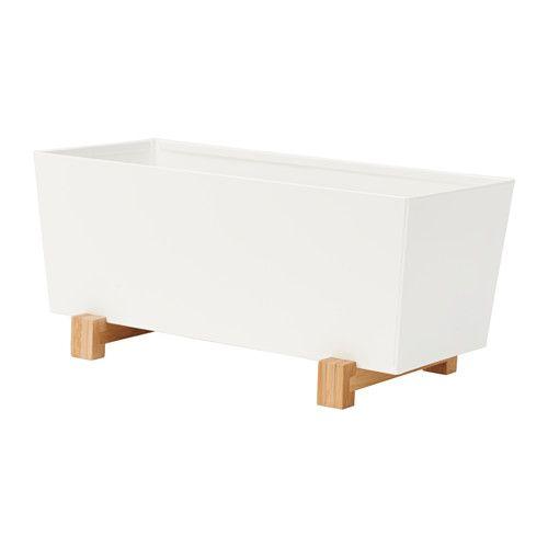 IKEA BITTERGURKA Plant pot White 32x15 cm