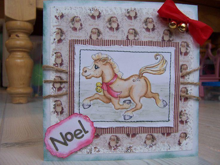 Kerstkaart voor een paardenmeisje ...