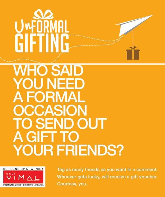 Gift the joy of Only Vimal to your loved ones!  Participate NOW!
