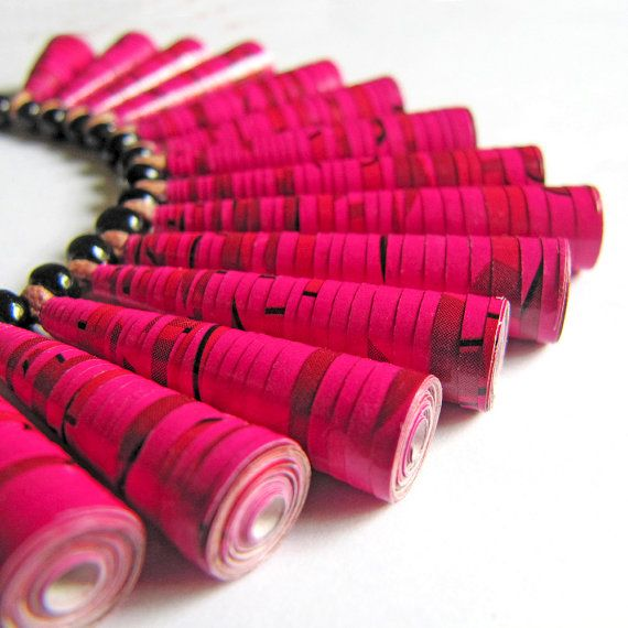 Hey, I found this really awesome Etsy listing at https://www.etsy.com/listing/95335621/beetroot-pink-necklace-first-anniversary