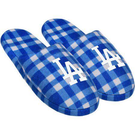 Mlb Dodgers Mens Flannel Slide Slp, Men's, Size: Medium, Blue
