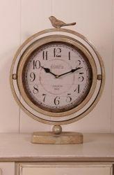 London 1865 Vintage Silver Bird Clock