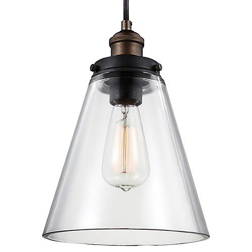 Baskin Cone Pendant by Feiss at Lumens.com