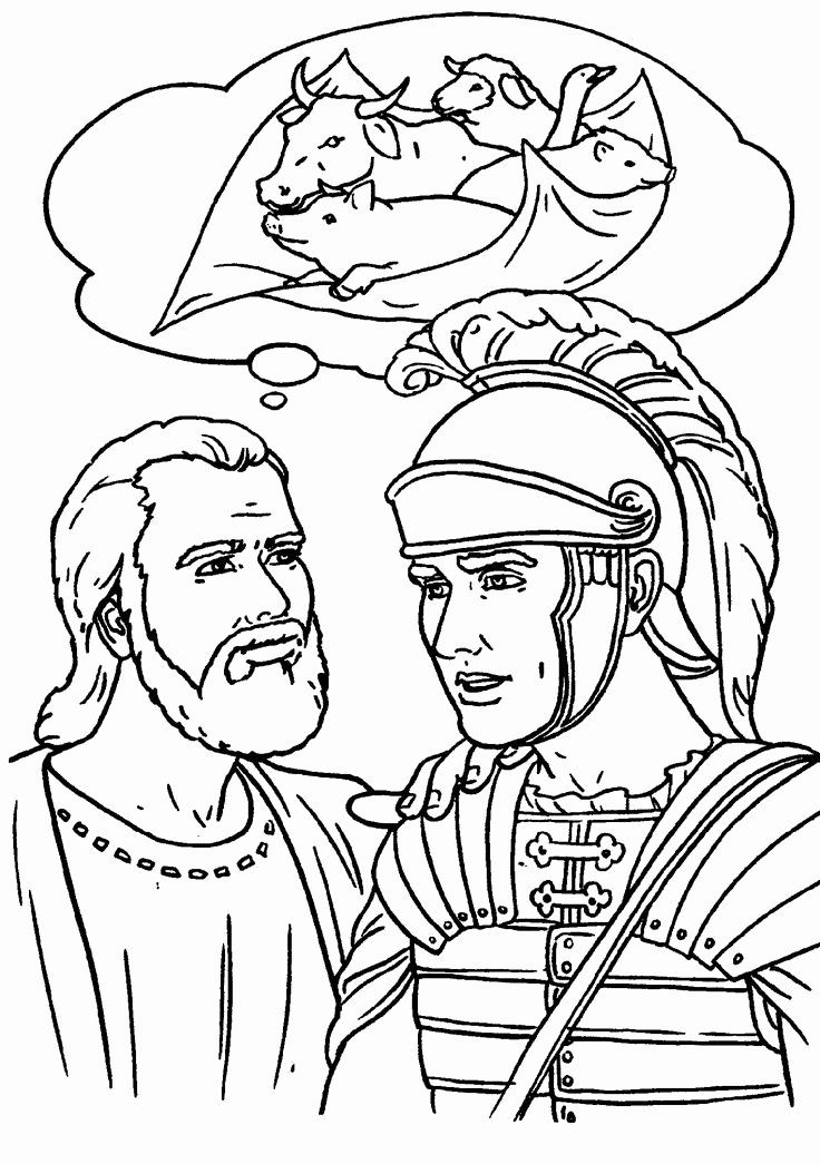 32 Peter And Cornelius Coloring Page In 2020 Bible Coloring