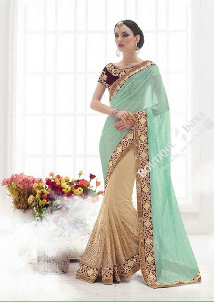 Sarees - Sea Blue, Royal Purple And Golden Bridal Collections - Resplendent Bridal Designer Wedding Special Collections / Wedding / Party / Special Occasions / Festival