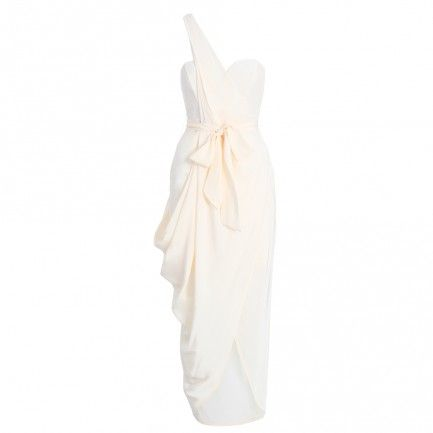 Silk Drape Long Dress - Clothing - Ready To Wear
