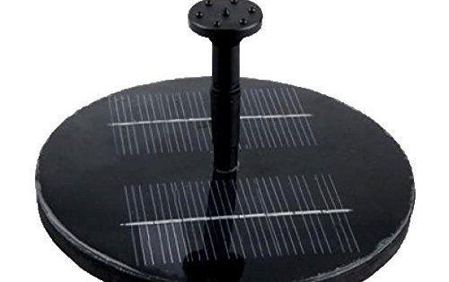 flintronic Pompe à eau avec Panneau Solaire et Pompe sans Balais, Fontaine Solaire pour Bassin ou Jardin: Panneau Solaire - Pompe solaire…