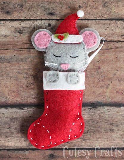 Como hacer ratones navideños con moldes01