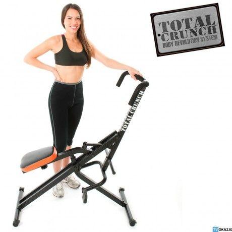 Total Crunch- innowacyjny system do ćwiczeń, który pomaga wykształcić twoje plecy, ramiona, bicepsy, klatkę piersiową, tricepsy, mięśnie brzucha,  pośladki, biodra i uda w tym samym czasie. Od tvokazje.pl #tvokazje #fit #totalcrunch