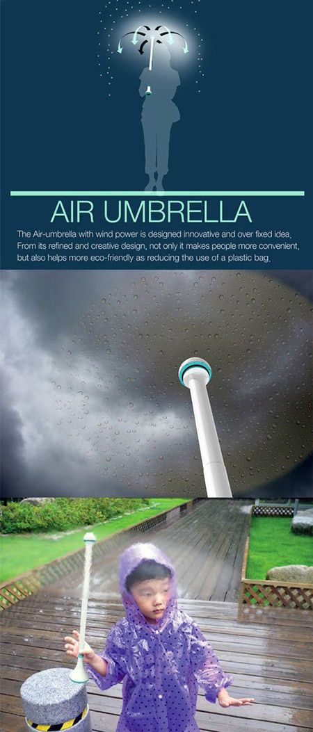 Say goodbye to your standard umbrella, and say hello to the Air Umbrella.