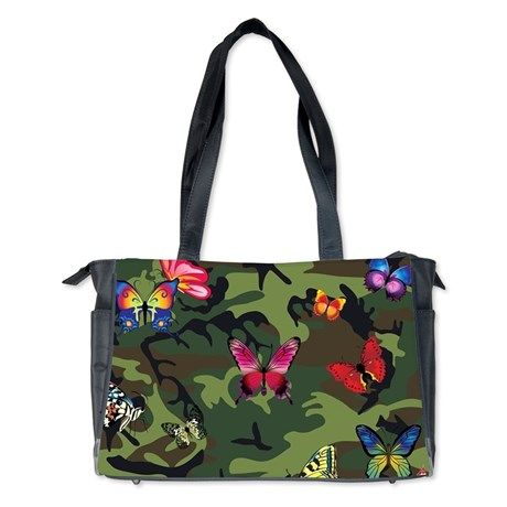 butterfly camouflage Diaper Bag