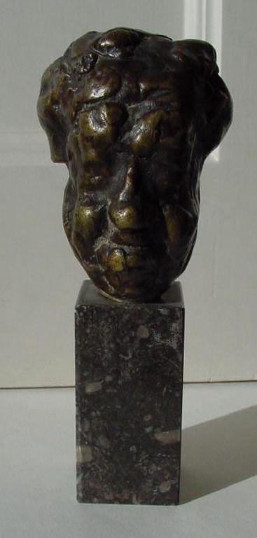Pieter d'Hont - bronzen beeldje Michel Simon (1895-1975; Franse acteur)