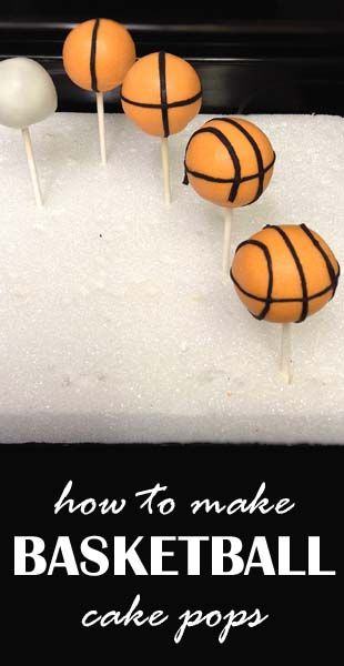 how to make basketball cake pops
