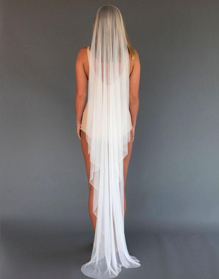 Francoise floor length silk veil