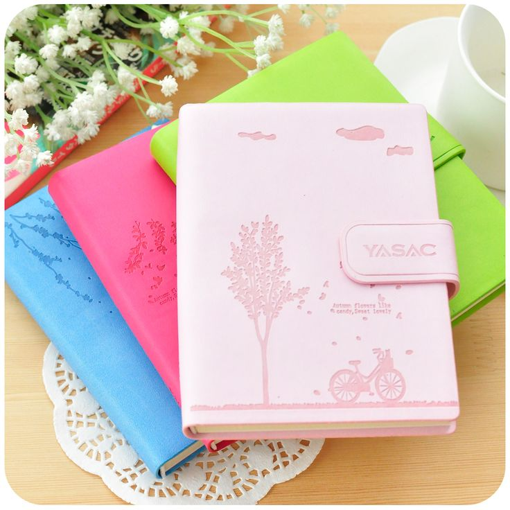 Korea Stationery Small Fresh Leather Notebook Cute Diary Tsmip