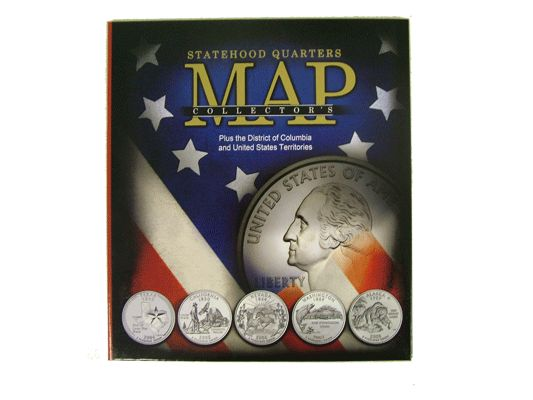 Statehood Quarters Collector S Map New Compact Size Display Your Quarter Collection In This Educational Collector