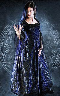 Reine du gothique Robe Nuit, velours