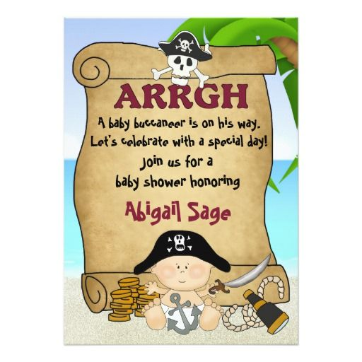 364 besten Pirate Baby Shower Invitations Bilder auf Pinterest