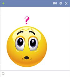 Questioning emoticon for Facebook