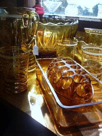 Amber glass at The Mill Markets - Ballarat, Daylesford & Geelong (from Stall #421 Ballarat) www.millmarkets.com.au