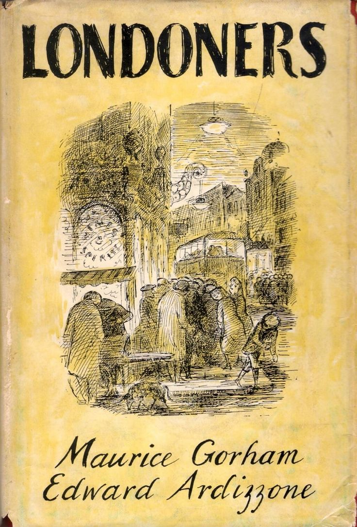 'Londoners' by Maurice Gorham. Cover illustration by Edward Ardizzone, 1951